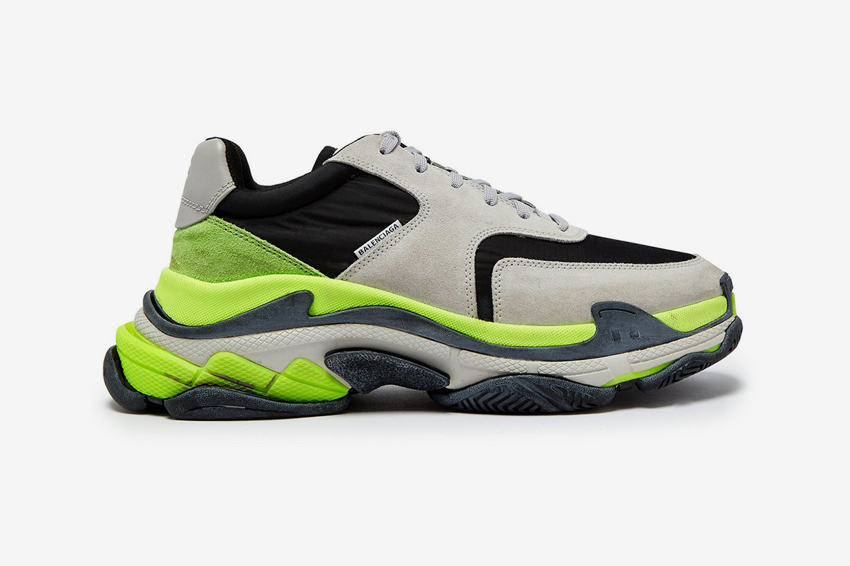 """Where To Buy: Balenciaga Triple S """"Volt"""" Grey/Black Low-top Trainers"""